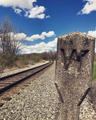 Railroad track outside Confluence, Pennsylvania