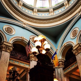 Inside the Somerset County Courthouse in Somerset, Pennsylvania.