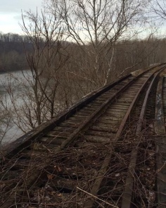 A trestle over the Youghiogheny River near Connellsville, Pennsylvania