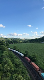 Countryside from the Salisbury Viaduct just outside Meyersdale, Pennsylvania