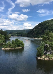 Confluence of Potomac and Shenadoah Rivers near Harpers Ferry, West Virginia