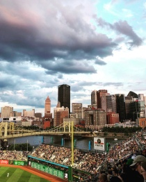 Pittsburgh, Pennsylvania from PNC Park.
