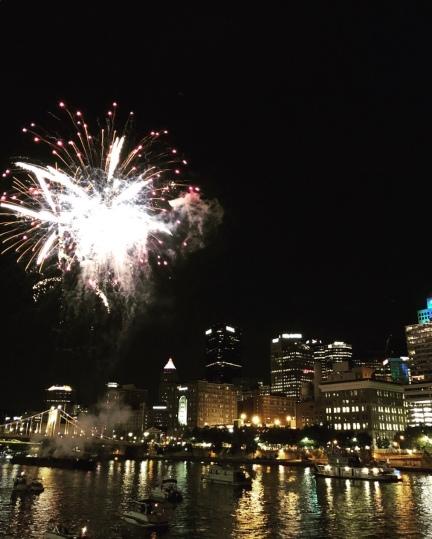 Fireworks in Pittsburgh, Pennsylvania